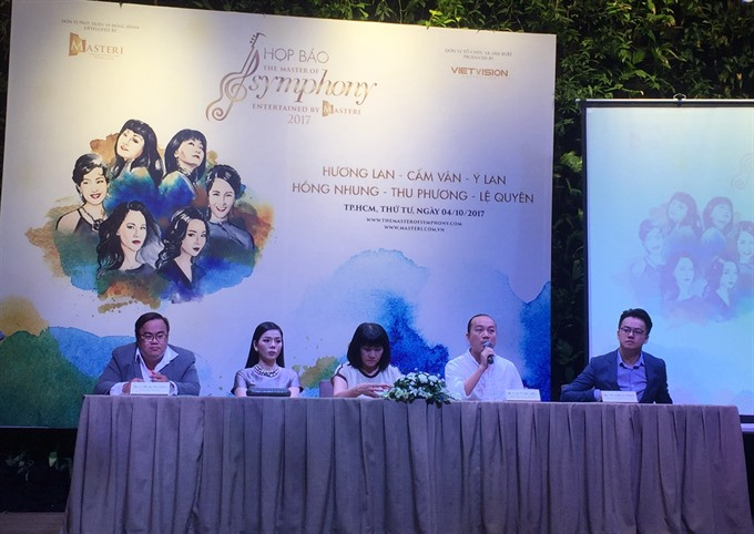 Six renowned singers to stage concert in HCM City in Nov