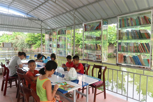 Floating library, Hai Duong reading garden, Vietnam economy, Vietnamnet bridge, English news about Vietnam, Vietnam news, news about Vietnam, English news, Vietnamnet news, latest news on Vietnam, Vietnam