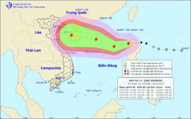 Tropical storm Khanun to make landfall in the East Sea, social news, vietnamnet bridge, english news, Vietnam news, news Vietnam, vietnamnet news, Vietnam net news, Vietnam latest news, vn news, Vietnam breaking news