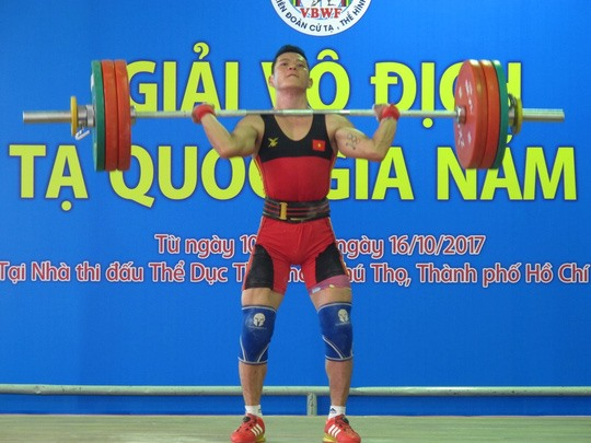 Thach Kim Tuan wins 56kg category at national weightlifting event, Sports news, football, Vietnam sports, vietnamnet bridge, english news, Vietnam news, news Vietnam, vietnamnet news, Vietnam net news, Vietnam latest news, vn news, Vietnam breaking news