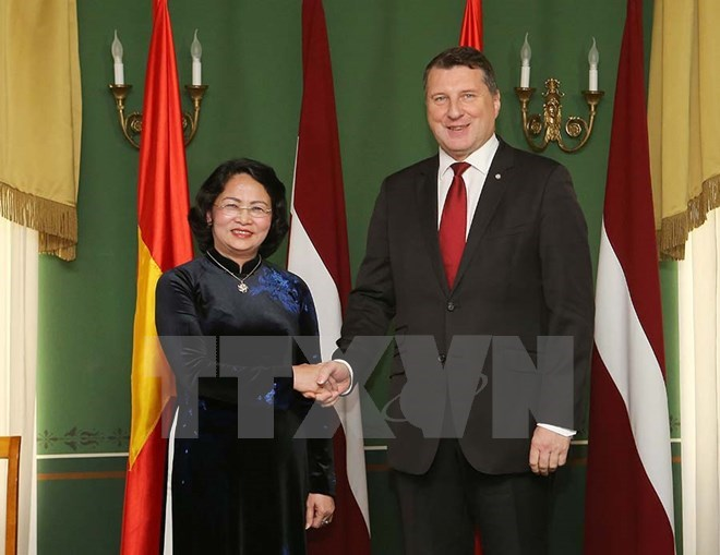 Vietnamese Vice President meets with Latvian President, Government news, Vietnam breaking news, politic news, vietnamnet bridge, english news, Vietnam news, news Vietnam, vietnamnet news, Vietnam net news, Vietnam latest news, vn news