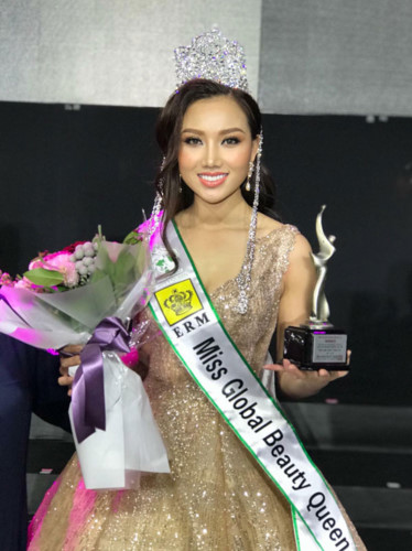 VN contestant crowned Miss Global Beauty Queen 2017, hoang thu thao, entertainment events, entertainment news, entertainment activities, what's on, Vietnam culture, Vietnam tradition, vn news, Vietnam beauty, news Vietnam, Vietnam news, Vietnam net news,