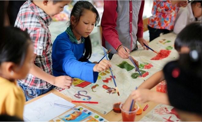 Exhibition features ethnic minority kids' art