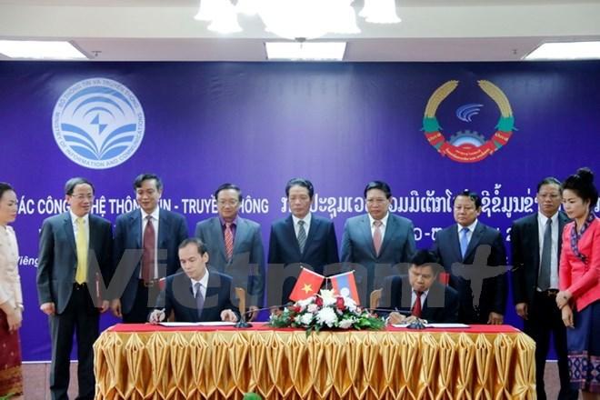 Vietnam-Laos ICT cooperation forum held in Vientiane, IT news, sci-tech news, vietnamnet bridge, english news, Vietnam news, news Vietnam, vietnamnet news, Vietnam net news, Vietnam latest news, Vietnam breaking news, vn news