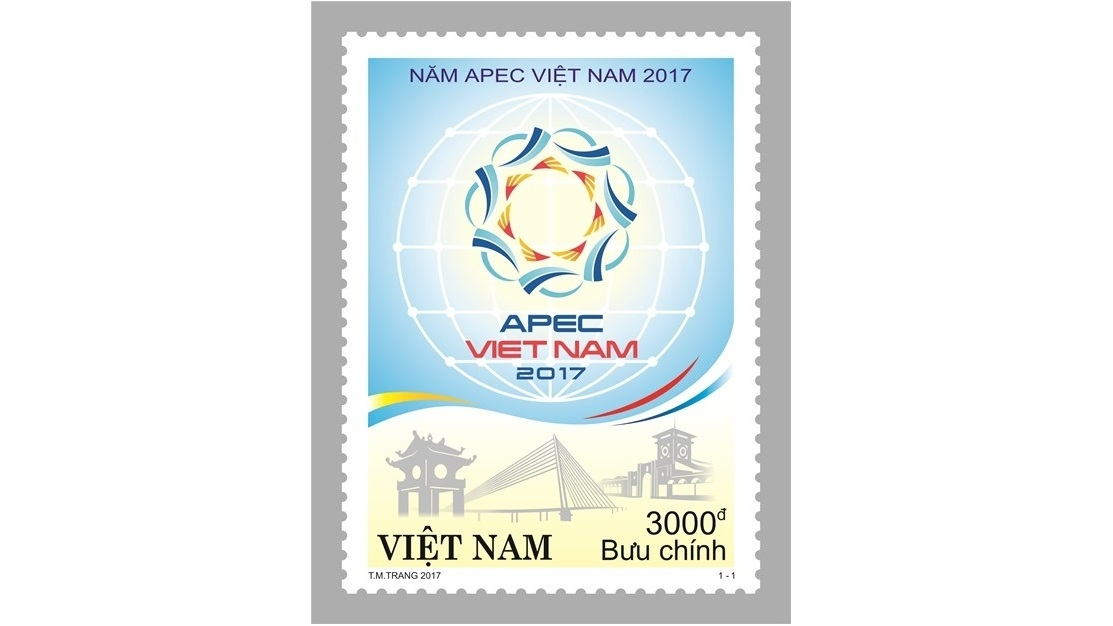 Stamp issued to mark APEC Vietnam 2017, entertainment events, entertainment news, entertainment activities, what's on, Vietnam culture, Vietnam tradition, vn news, Vietnam beauty, news Vietnam, Vietnam news, Vietnam net news, vietnamnet news, vietnamnet b