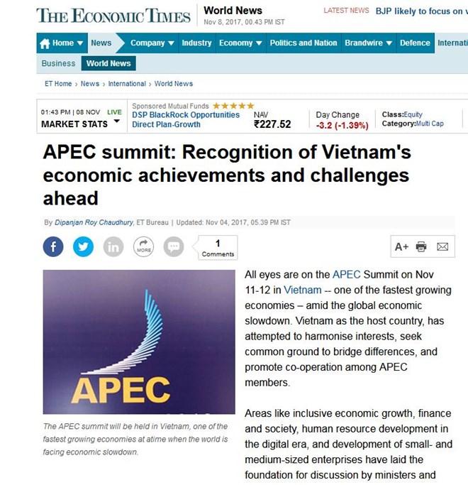 Foreign media spotlights Vietnam's hosting of APEC week, Government news, Vietnam breaking news, politic news, vietnamnet bridge, english news, Vietnam news, news Vietnam, vietnamnet news, Vietnam net news, Vietnam latest news, vn news