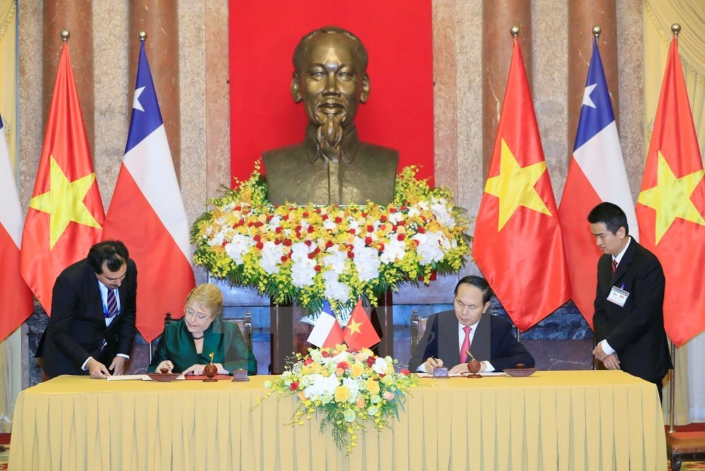 Chilean President Michelle Bachelet Jeria welcomed in Hanoi, Government news, Vietnam breaking news, politic news, vietnamnet bridge, english news, Vietnam news, news Vietnam, vietnamnet news, Vietnam net news, Vietnam latest news, vn news