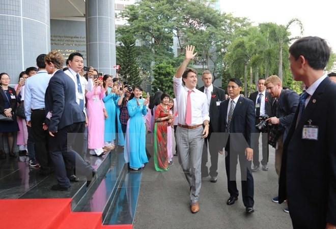 Canadian PM Justin Trudeau leaves HCM City for Da Nang city, Government news, Vietnam breaking news, politic news, vietnamnet bridge, english news, Vietnam news, news Vietnam, vietnamnet news, Vietnam net news, Vietnam latest news, vn news