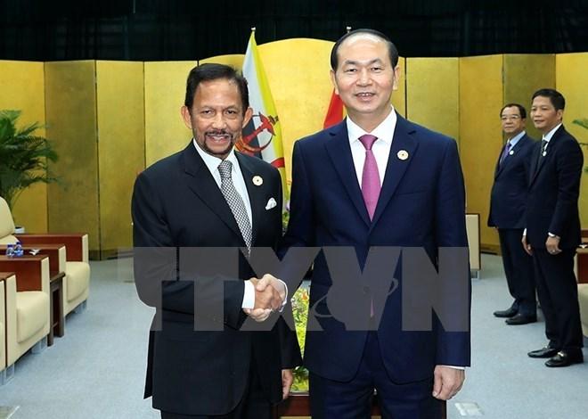 APEC 2017: President Tran Dai Quang welcomes Brunei's Sultan, Government news, Vietnam breaking news, politic news, vietnamnet bridge, english news, Vietnam news, news Vietnam, vietnamnet news, Vietnam net news, Vietnam latest news, vn news