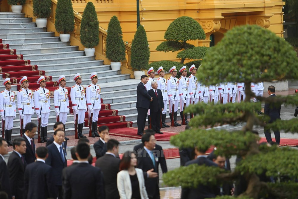 Party chiefs Nguyen Phu Trong, Xi Jinping hold talks, Party chiefs Nguyen Phu Trong, Xi Jinping hold talks