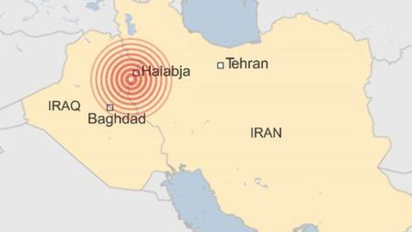Earthquake, Iraq-Iran, border region