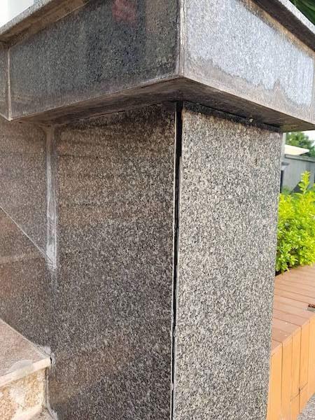 Wall tiles fall at Bac Giang office buildings