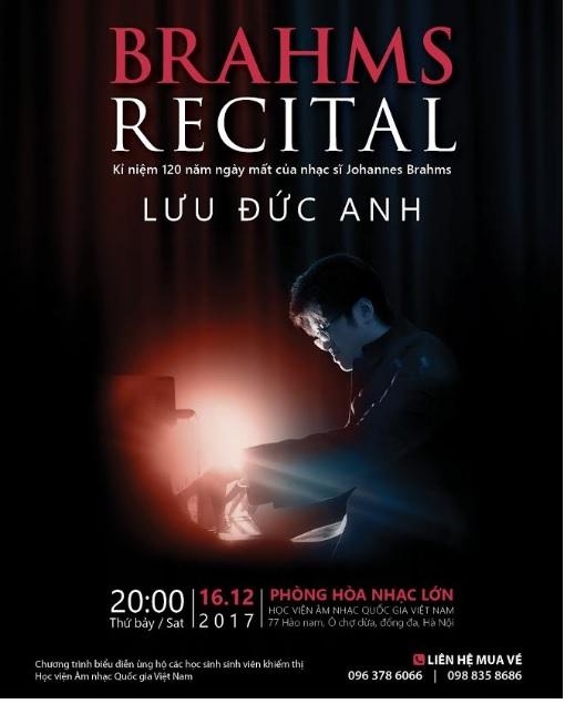 Brahms Recital with pianist Luu Duc Anh in Hanoi, entertainment events, entertainment news, entertainment activities, what's on, Vietnam culture, Vietnam tradition, vn news, Vietnam beauty, news Vietnam, Vietnam news, Vietnam net news, vietnamnet news, vi