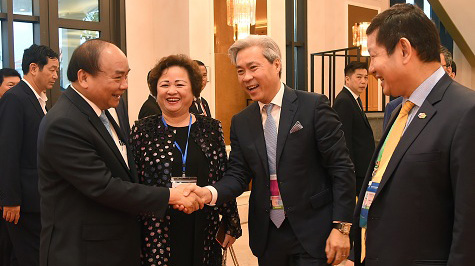 Special breakfast of PM Nguyen Xuan Phuc with leaders of 20 corporations, Government news, Vietnam breaking news, politic news, vietnamnet bridge, english news, Vietnam news, news Vietnam, vietnamnet news, Vietnam net news, Vietnam latest news, vn news