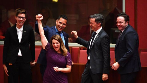 Australia, same-sex marriage, lawmakers passed