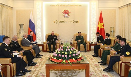 General staff chief Phan Van Giang meets Russian naval commander, Government news, Vietnam breaking news, politic news, vietnamnet bridge, english news, Vietnam news, news Vietnam, vietnamnet news, Vietnam net news, Vietnam latest news, vn news