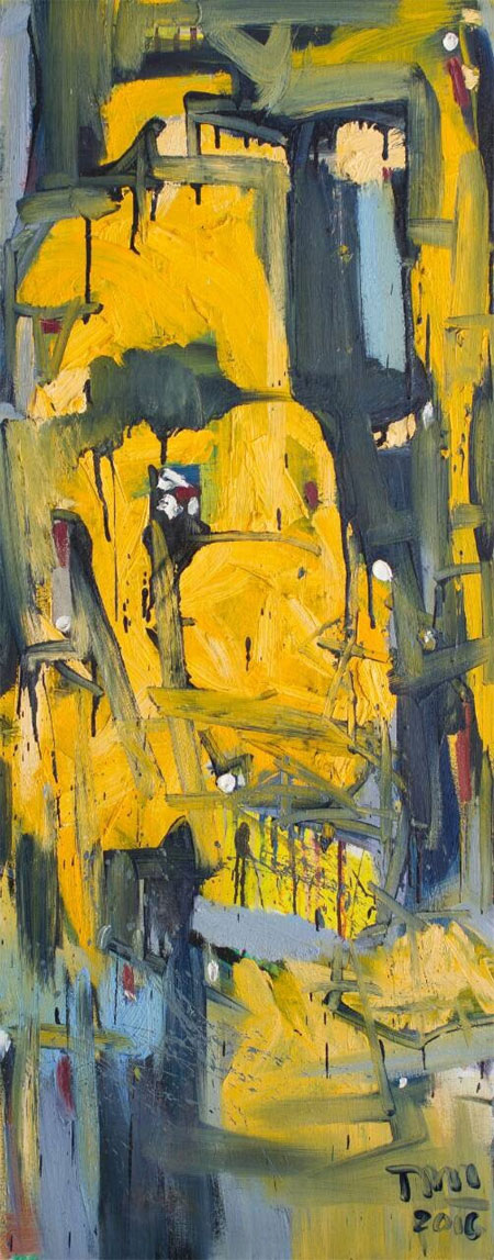 Abstract expressionist painting, producing fashion fabrics, Vietnam economy, Vietnamnet bridge, English news about Vietnam, Vietnam news, news about Vietnam, English news, Vietnamnet news, latest news on Vietnam, Vietnam