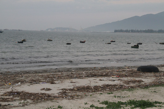 Rubbish swamps Da Nang beach, Vietnam environment, climate change in Vietnam, Vietnam weather, Vietnam climate, pollution in Vietnam, environmental news, sci-tech news, vietnamnet bridge, english news, Vietnam news, news Vietnam, vietnamnet news, Vietnam