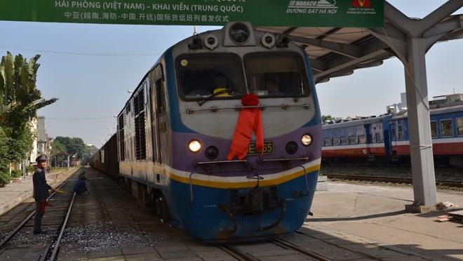 Freight rail service linking Hai Phong with China's Kaiyuan launched, vietnam economy, business news, vn news, vietnamnet bridge, english news, Vietnam news, news Vietnam, vietnamnet news, vn news, Vietnam net news, Vietnam latest news, Vietnam