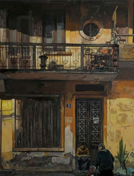 Painting, artist Pham Binh Chuong, corner of Hanoi's Old Quarter, Vietnam economy, Vietnamnet bridge, English news about Vietnam, Vietnam news, news about Vietnam, English news, Vietnamnet news, latest news on Vietnam, Vietnam