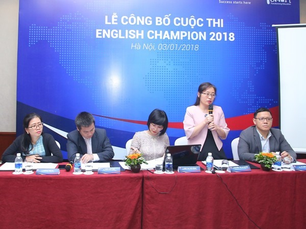 English Champion 2018 for students launched, Vietnam education, Vietnam higher education, Vietnam vocational training, Vietnam students, Vietnam children, Vietnam education reform, vietnamnet bridge, english news, Vietnam news, news Vietnam, vietnamnet