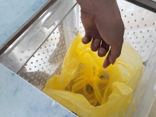 Students use organic waste to fertilize plants