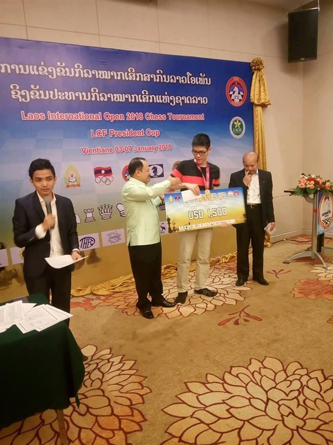 IM Minh grabs silver at Lao chess tourney, Sports news, football, Vietnam sports, vietnamnet bridge, english news, Vietnam news, news Vietnam, vietnamnet news, Vietnam net news, Vietnam latest news, vn news, Vietnam breaking news