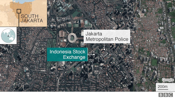 Jakarta stock exchange ceiling collapses