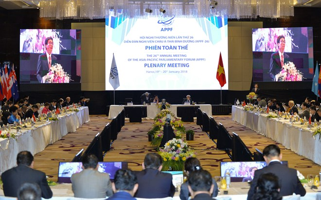 APPF lawmakers chalk out ways for regional cooperation, Party chief Nguyen Phu Trong greets APPF-26 delegation heads, APPF-26's final plenary session focuses on regional cooperation