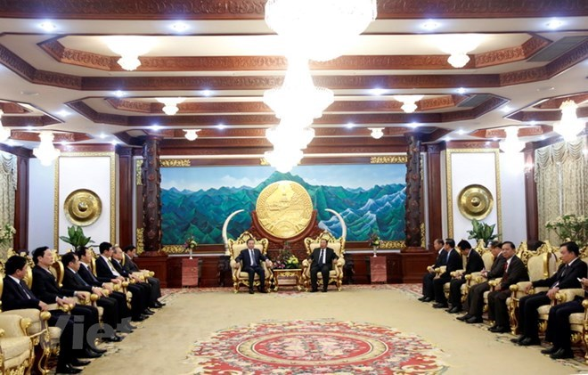 Lao leader hosts Vietnamese Minister of Public Security, Government news, Vietnam breaking news, politic news, vietnamnet bridge, english news, Vietnam news, news Vietnam, vietnamnet news, Vietnam net news, Vietnam latest news, vn news
