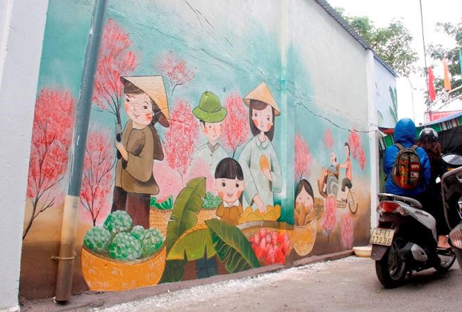 Alleyway murals of Da Nang , entertainment events, entertainment news, entertainment activities, what's on, Vietnam culture, Vietnam tradition, vn news, Vietnam beauty, news Vietnam, Vietnam news, Vietnam net news, vietnamnet news, vietnamnet bridge