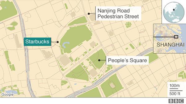 Shanghai van hits 18 pedestrians outside Starbucks