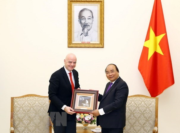 Prime Minister welcomes FIFA President, Government news, Vietnam breaking news, politic news, vietnamnet bridge, english news, Vietnam news, news Vietnam, vietnamnet news, Vietnam net news, Vietnam latest news, vn news