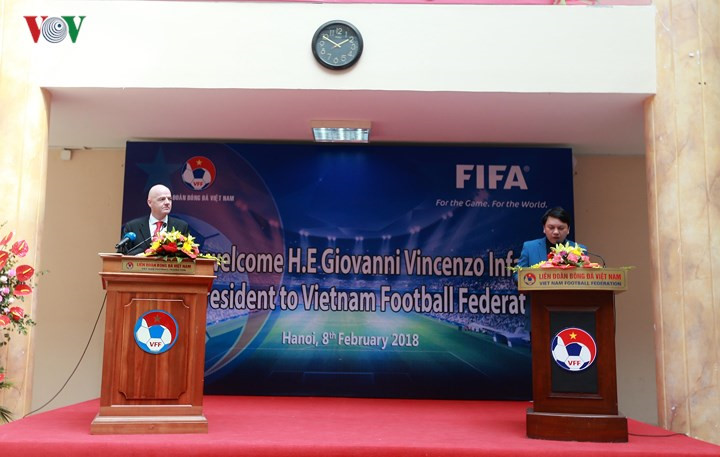FIFA president pledges to support growth of football in Vietnam, Sports news, football, Vietnam sports, vietnamnet bridge, english news, Vietnam news, news Vietnam, vietnamnet news, Vietnam net news, Vietnam latest news, vn news, Vietnam breaking news