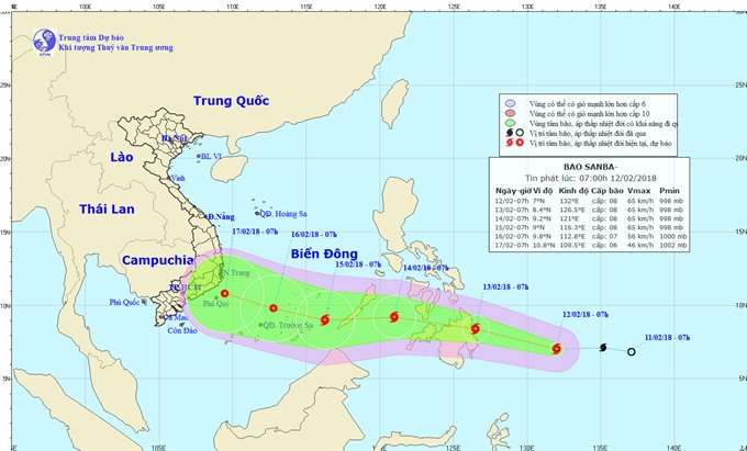Storm Sanba heading towards Vietnam, social news, vietnamnet bridge, english news, Vietnam news, news Vietnam, vietnamnet news, Vietnam net news, Vietnam latest news, vn news, Vietnam breaking news