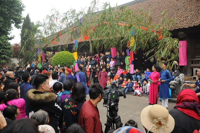 Tet celebration at communal house, entertainment events, entertainment news, entertainment activities, what's on, Vietnam culture, Vietnam tradition, vn news, Vietnam beauty, news Vietnam, Vietnam news, Vietnam net news, vietnamnet news, vietnamnet bridge