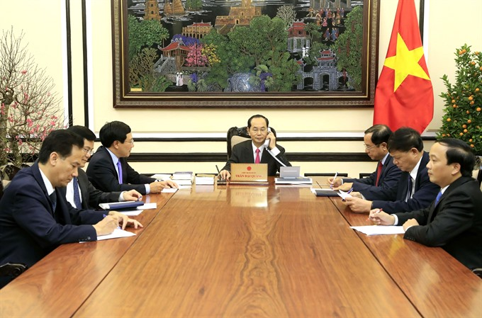 VN President holds phone talks with US counterpart Donald Trump