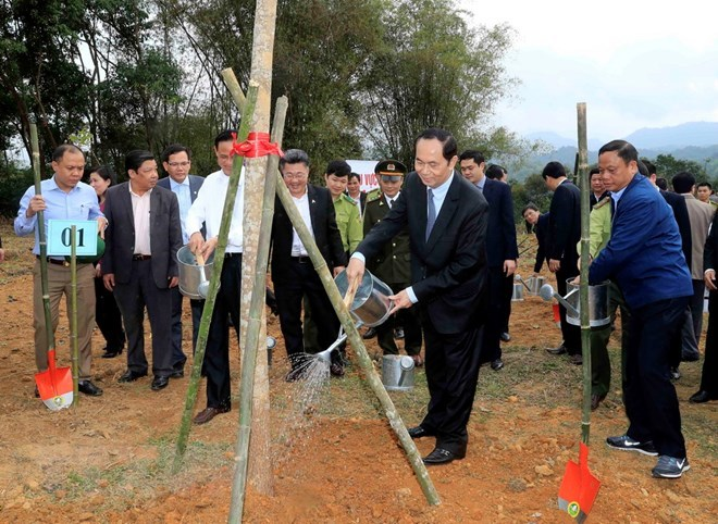 President launches New Year tree planting festival