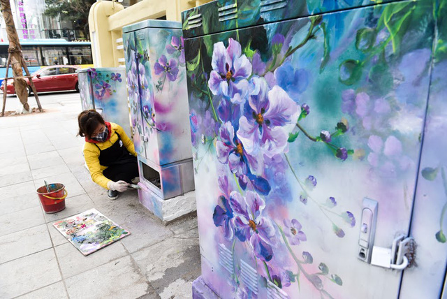 Hanoi telephone booths get facelift, entertainment events, entertainment news, entertainment activities, what's on, Vietnam culture, Vietnam tradition, vn news, Vietnam beauty, news Vietnam, Vietnam news, Vietnam net news, vietnamnet news, vietnamnet brid