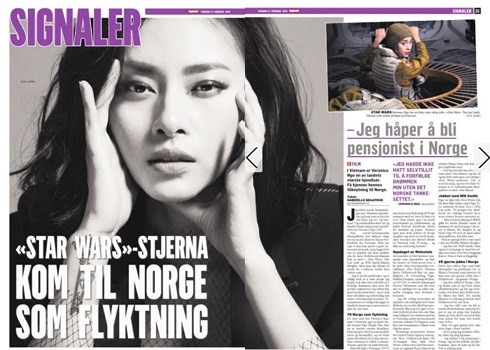 Vietnamese actress appears on Norway's largest newspaper Dagbladet, entertainment events, entertainment news, entertainment activities, what's on, Vietnam culture, Vietnam tradition, vn news, Vietnam beauty, news Vietnam, Vietnam news, Vietnam net news, v