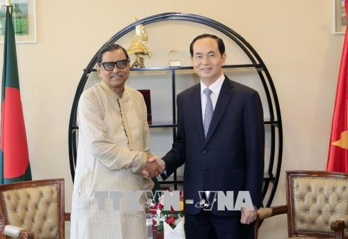 President Tran Dai Quang meets Bangladeshi leaders, Government news, Vietnam breaking news, politic news, vietnamnet bridge, english news, Vietnam news, news Vietnam, vietnamnet news, Vietnam net news, Vietnam latest news, vn news