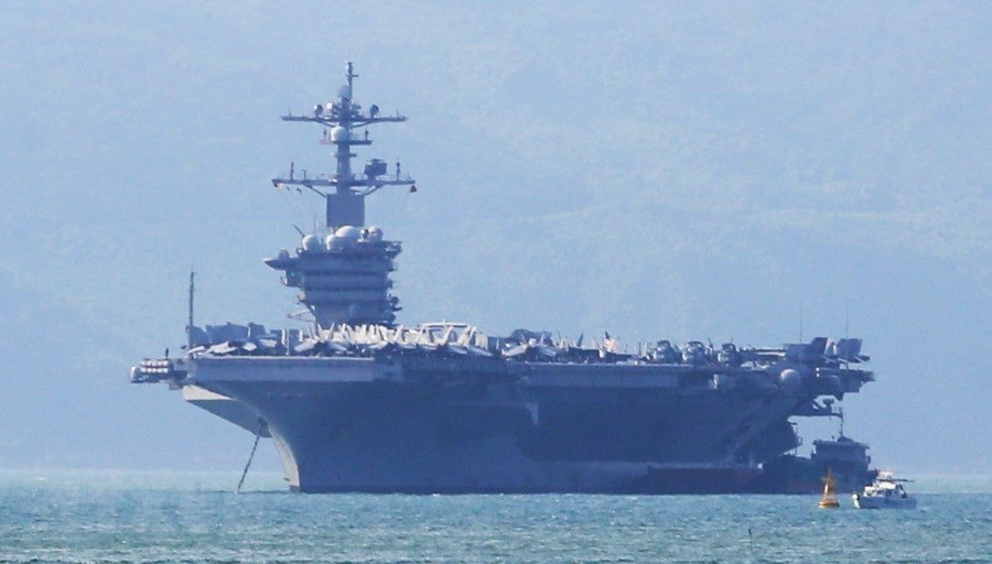 US's aircraft carrier USS Carl Vinson visits Da Nang, Sports news, football, Vietnam sports, vietnamnet bridge, english news, Vietnam news, news Vietnam, vietnamnet news, Vietnam net news, Vietnam latest news, vn news, Vietnam breaking news