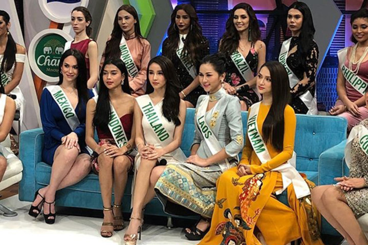 Huong Giang delights in traditional Thai costume, Miss International Queen 2018, entertainment events, entertainment news, entertainment activities, what's on, Vietnam culture, Vietnam tradition, vn news, Vietnam beauty, news Vietnam, Vietnam news