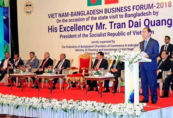 President Tran Dai Quang urges firms of VN, Bangladesh to create impetus for trade ties, vietnam economy, business news, vn news, vietnamnet bridge, english news, Vietnam news, news Vietnam, vietnamnet news, vn news, Vietnam net news, Vietnam latest news,