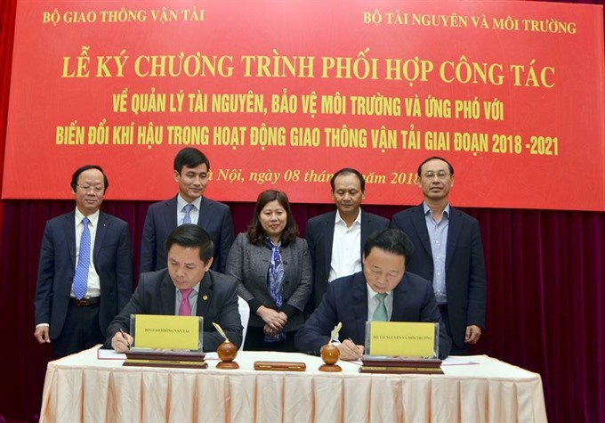 Ministries work to improve environment protection in transportation, Vietnam environment, climate change in Vietnam, Vietnam weather, Vietnam climate, pollution in Vietnam, environmental news, sci-tech news, vietnamnet bridge, english news, Vietnam news,