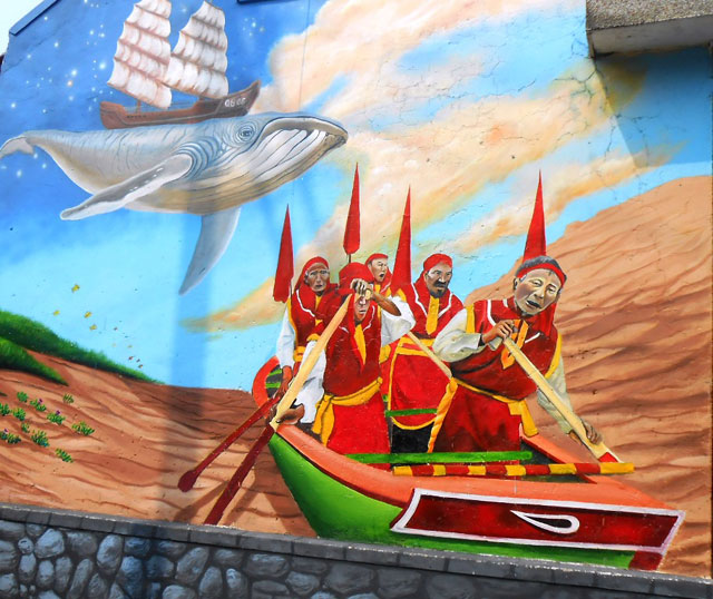 Unique murals in Canh Duong village, entertainment events, entertainment  news, entertainment activities,