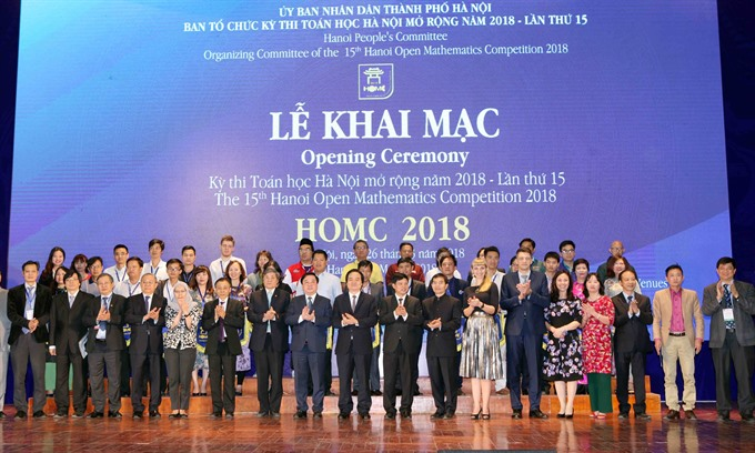 Hanoi Open Math contest held with international contestants for the first time, Vietnam education, Vietnam higher education, Vietnam vocational training, Vietnam students, Vietnam children, Vietnam education reform, vietnamnet bridge, english news