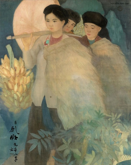 Vietnamese painter's work, auctioned, record price, Vietnam economy, Vietnamnet bridge, English news about Vietnam, Vietnam news, news about Vietnam, English news, Vietnamnet news, latest news on Vietnam, Vietnam