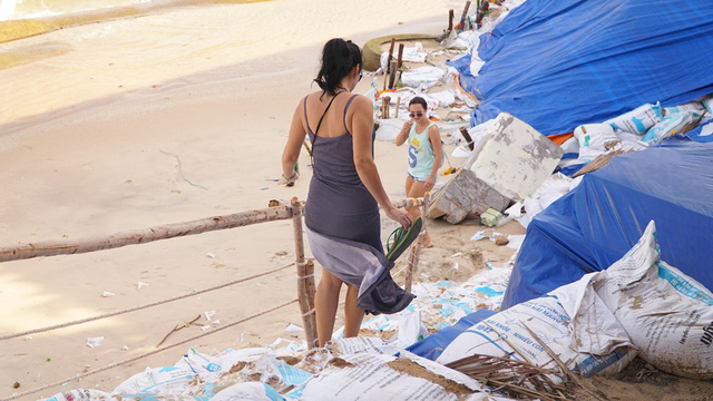 Mui Ne beaches face serious erosion, Vietnam environment, climate change in Vietnam, Vietnam weather, Vietnam climate, pollution in Vietnam, environmental news, sci-tech news, vietnamnet bridge, english news, Vietnam news, news Vietnam, vietnamnet news, V