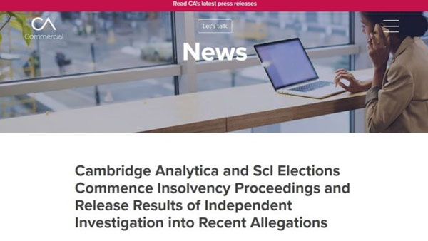 Cambridge Analytica, Facebook data-harvesting scandal